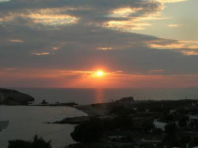 Un tramonto dalla nostra camera :)