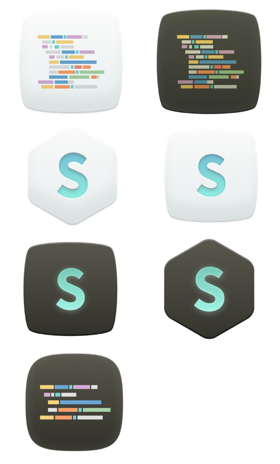Sublime Text Replacement Icon by Andreas Eldh
