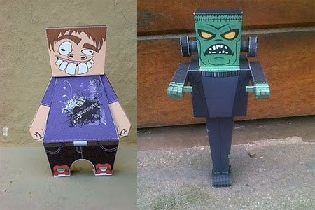 Mr Frank The Nurd Paper Toy