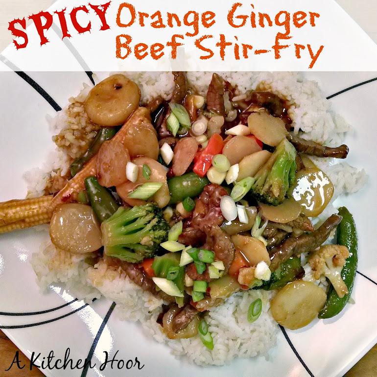 Spicy Orange Ginger Beef Stir-Fry