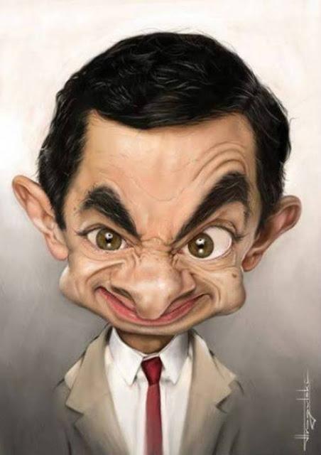 Роуэн Аткинсон - Мистер Бин - 18 юмористических карикатур на знаменитостей из 15 известных кинолент