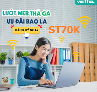 Nhận 15GB Miễn phí, xem Tiktok vô tư Gói ST70K Viettel