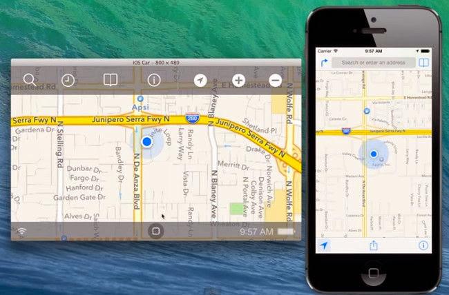 La interfaz de iOS en el Coche, capturada en vídeo por un desarrollador