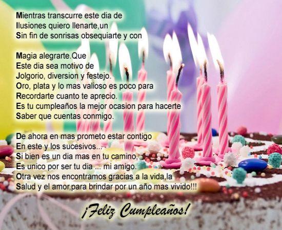 Saludos de cumpleaños para dedicar y compartir ~ Frases de cumpleaños