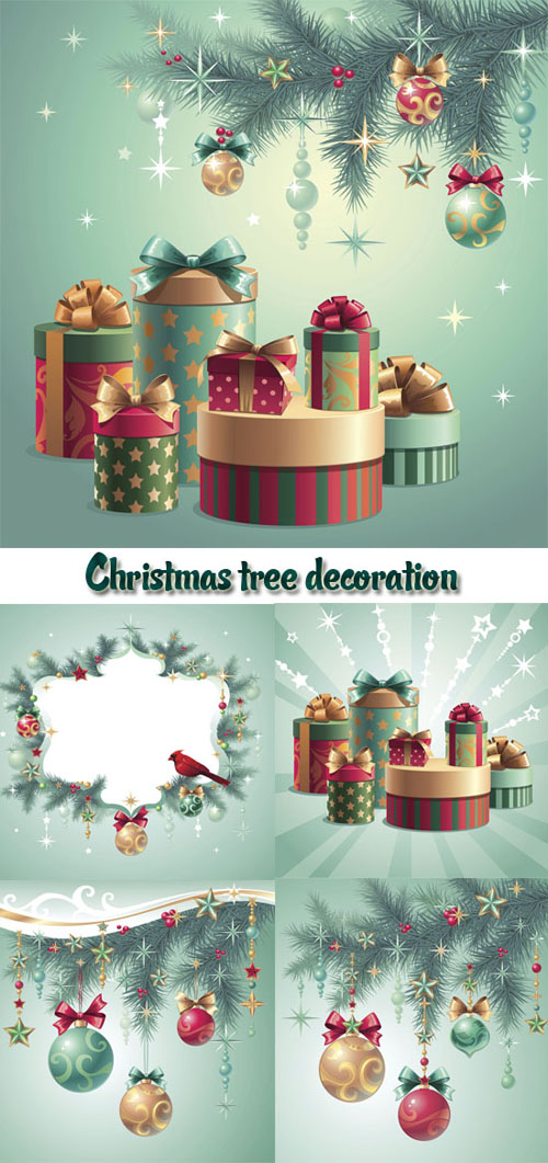 Stock: Christmas tree decoration