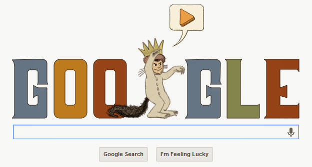 Google Doodle – Maurice Sendak's 85th Birthday