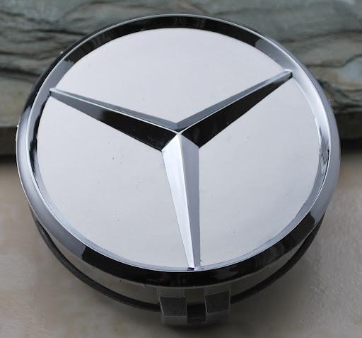 Find four new 3 75mm mercedes benz logo emblems wheel for Mercedes benz wheel caps