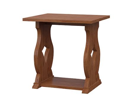 Bordeaux End Table in Vermont Maple