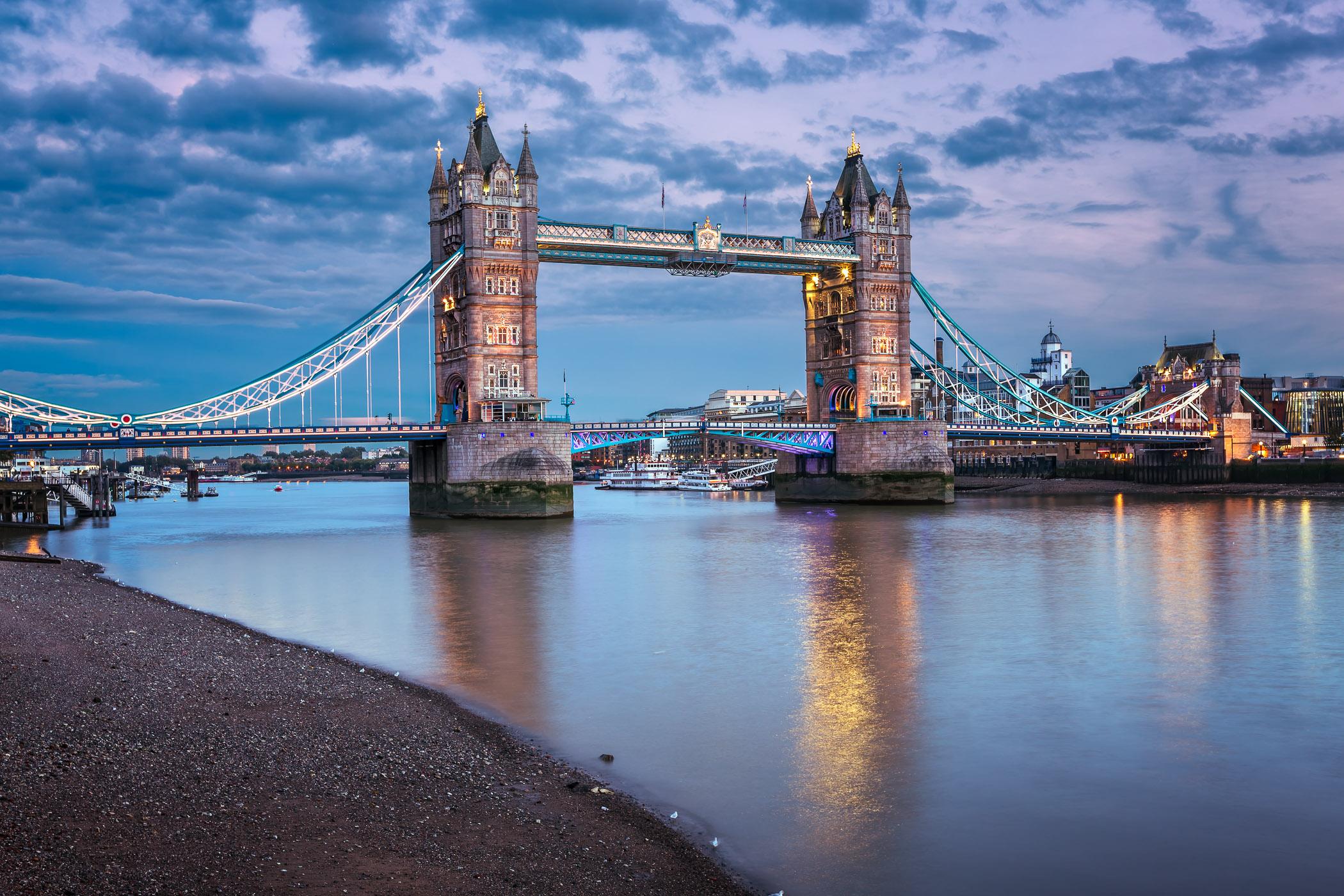 Famous Tower Bridge at Sunset, London, United Kingdom