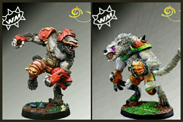 Hombres lobo estrella Blood Bowl Willy miniatures