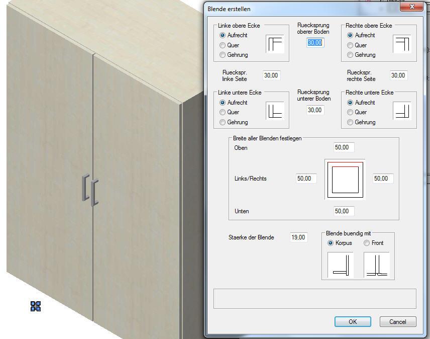 ElementsCAD - Dialog Blende erstellen