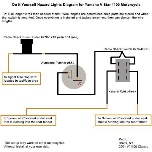 wiring diagram 2001 v star 1100 custom lighting - v-star 1100 wiki knowledge base