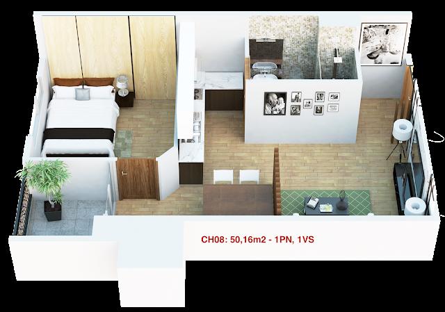 Thiết kế căn hộ 08 tháp doanh nhân