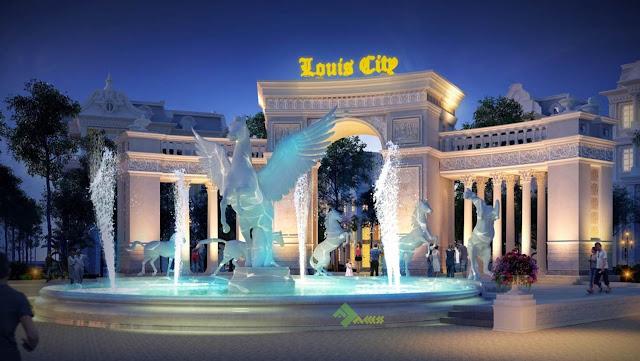 Cổng chào đầy hoa lệ quý phái của dự án Louis City