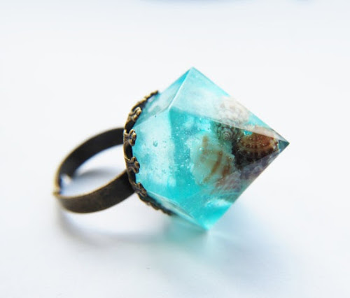 Seafoam Nautical Resin Ring by Natural Pretty Things