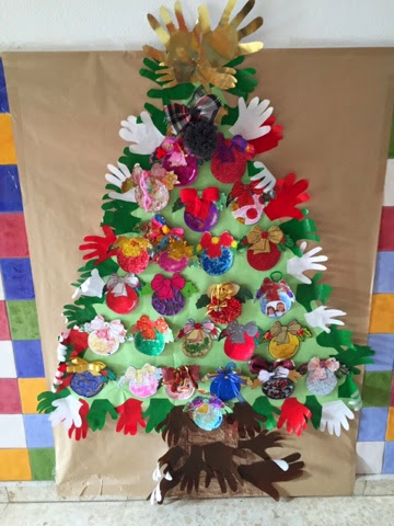 Qu bien lo pasamos en el cole decoraci n navide a en - Arbol navidad infantil ...