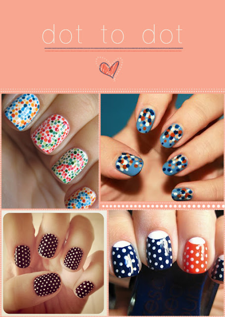 Decorate your nails with as many dots as you can.