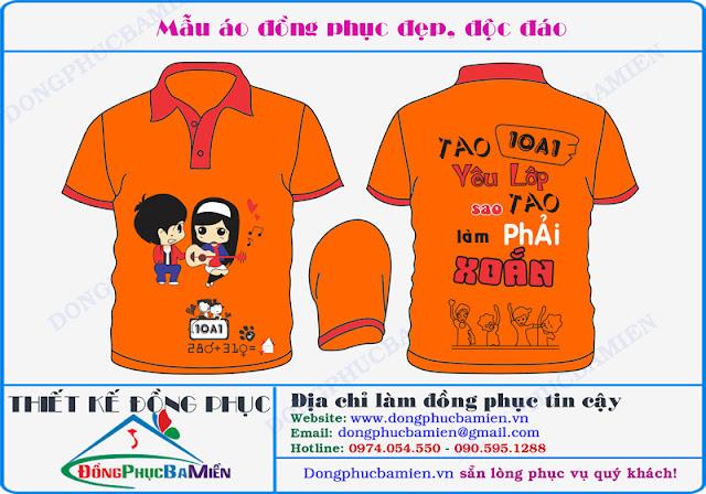 Dong phuc hoc sinh dep lop 10A1 truong THPT Yen Khe - Phu Tho