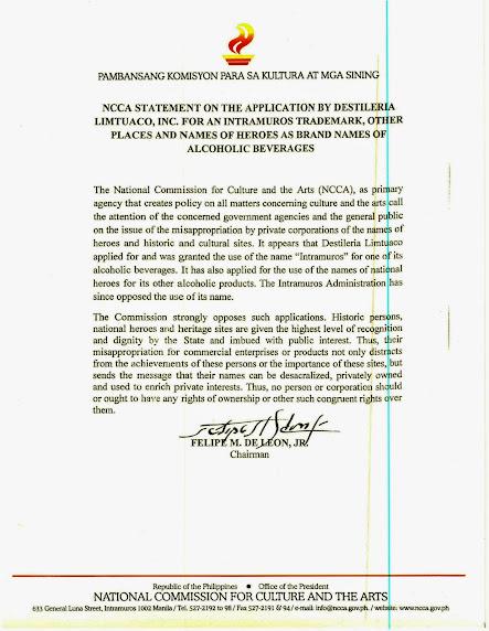 NCCA-statement-destileria-limtuaco