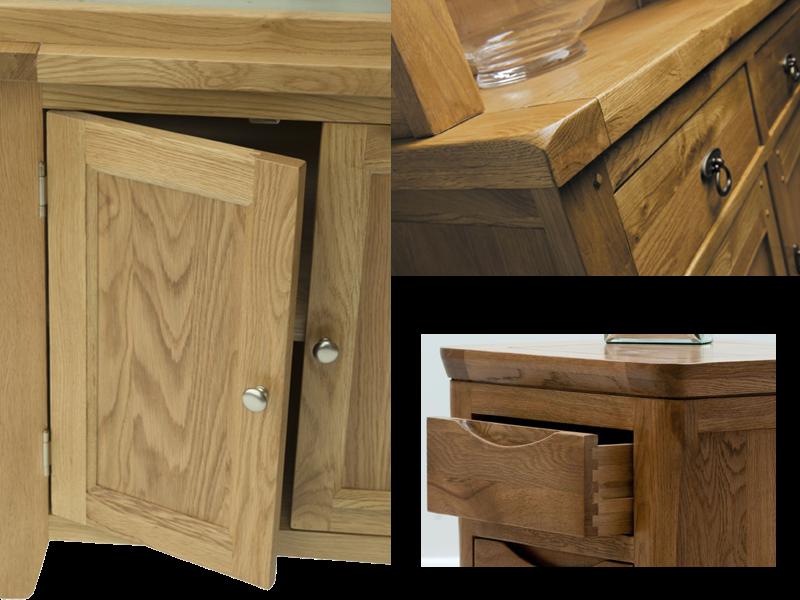 gỗ ghép sồi làm hộc tủ, cánh cửa tủ 1
