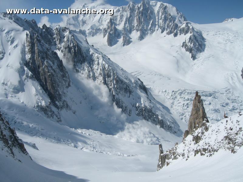 Avalanche Mont Blanc, secteur Dent du Géant, Glacier de la Noire - Photo 1