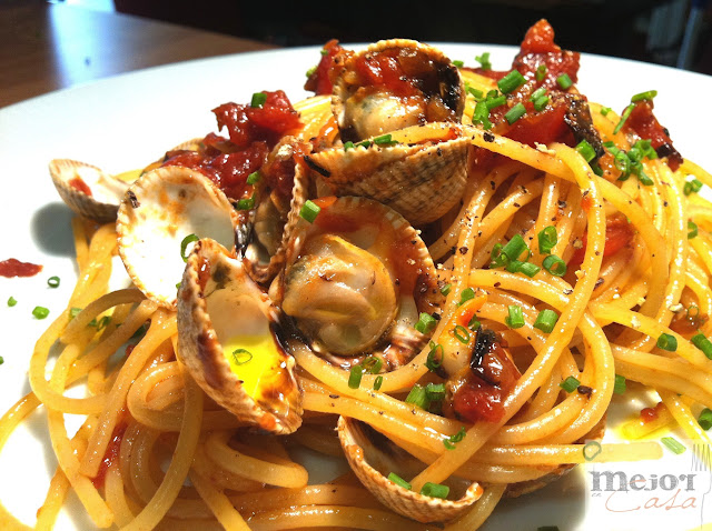 Spaghetti bongole restaurante a domicilio Mejor en casa