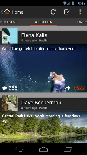 2.6.2 New Google+ for Android is out
