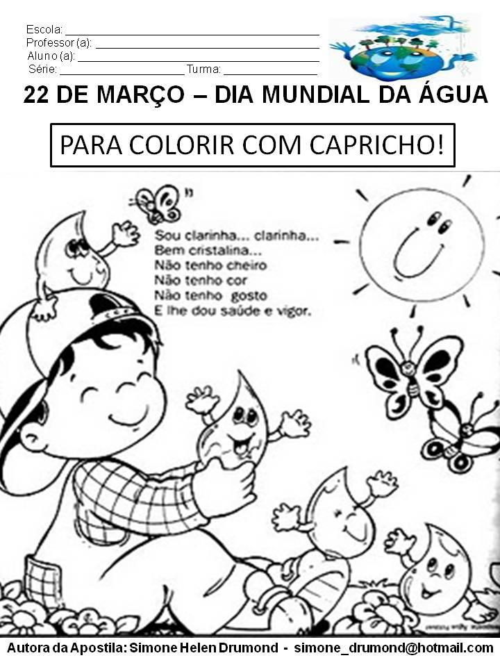Apostila De Atividades Dia Mundial Da Gua