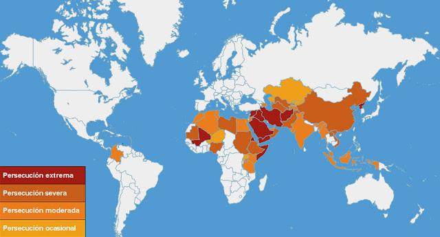 50 países que más persiguen a los cristianos, Open Doors