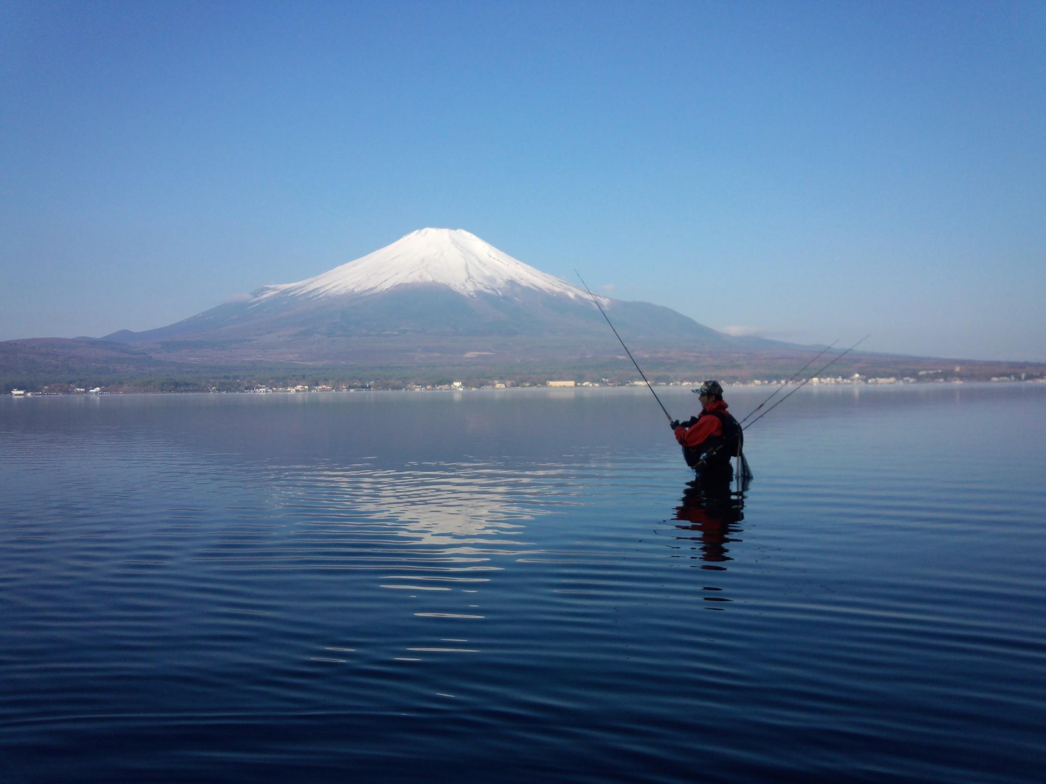 富士山と山中湖のたこぽち