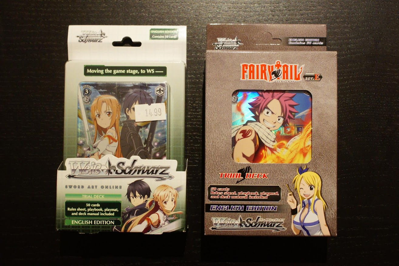 Weiß Schwarz TCG Trading Card Game SAO Sword Art Online Fairy Tail