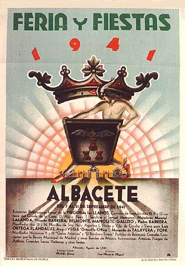 Cartel Feria Albacete 1941