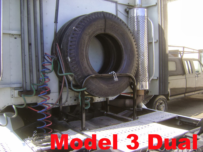 Semi Truck Spare Tire Carrier Model 3 Dual