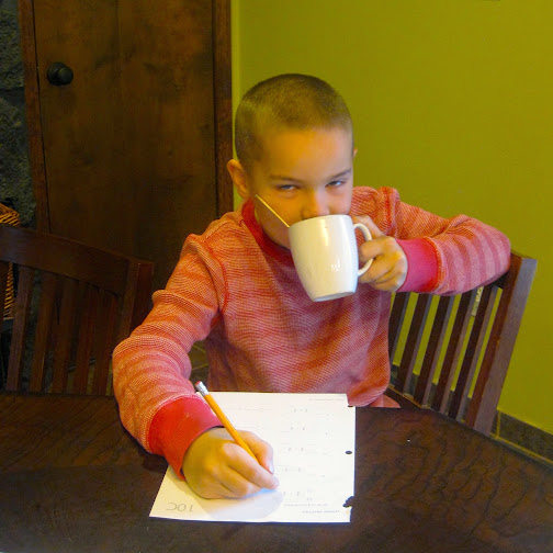 homeschooling with tea - a simple idea to make the most of homeschool mornings