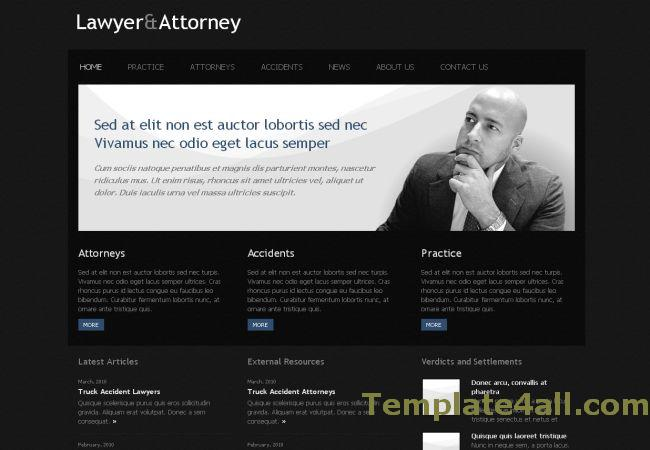 Free Lawyer Black CSS Website Template