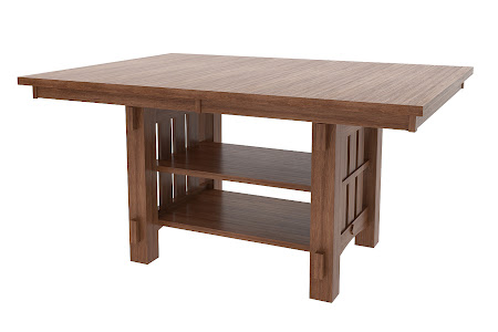 "46"" x 46"" Cordoba Island Table in Pecan Oak"