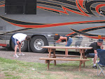 it went under the bus?!