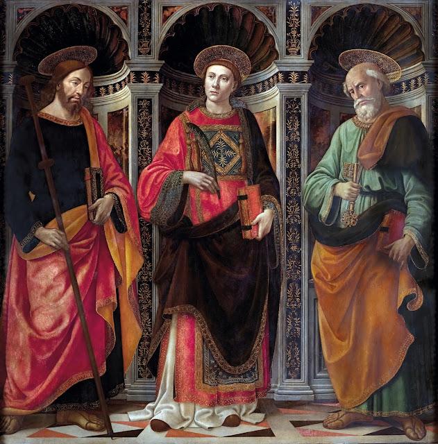Domenico Ghirlandaio - santi Jacopo, Stefano, e Pietro