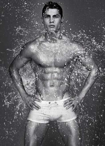 Cristiano Ronaldo, mojado