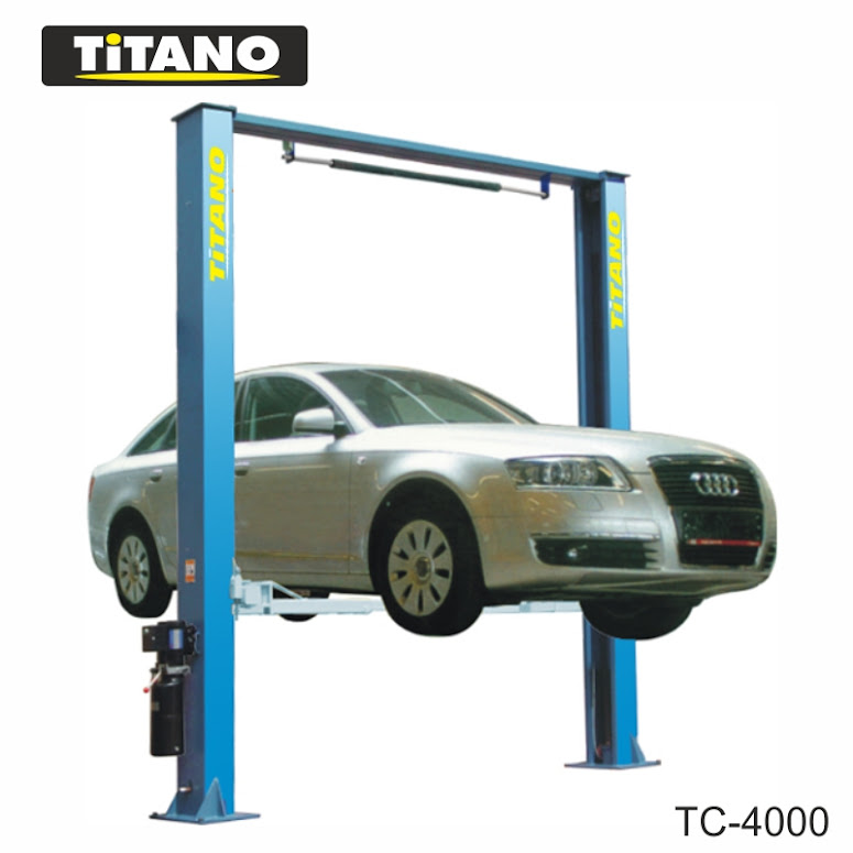 Cầu nâng ô tô 2 trụ giằng trên TB4000, 4 tấn
