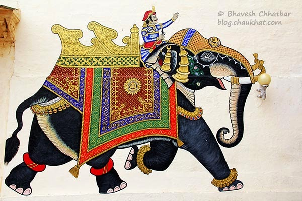 Wall painting of an elephant
