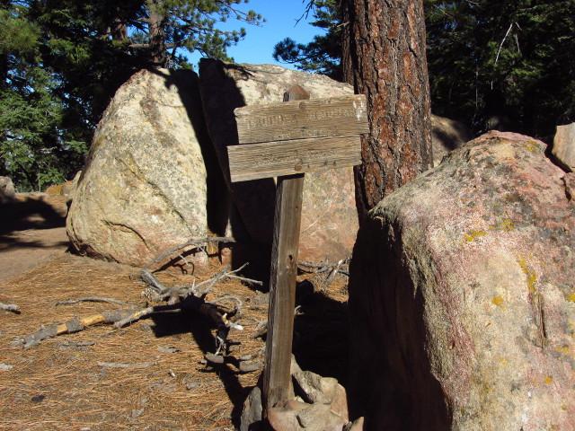 Haddock Peak sign