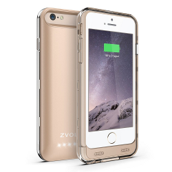 ZVOLTZ ZT6 iPhone 6 Battery Case (4.7 Inches) [1 Year WARRANTY] - [Champagne Gold/Clear] - 3100mAh [Apple MFI Certified] - External Protective iPhone 6 Charger Case / iPhone 6 Charging Case Extended Backup Battery Pack Cover Case Fit with Any Version of Apple iPhone 6 - image