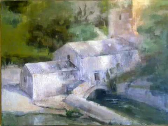Pintura de Cristina López Ramírez, colección privada de Dña. Sofía de Grecia