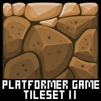 Cave Platformer Game Tile Set