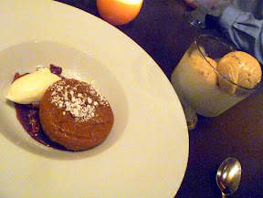 Tabla Bistro, Winter Squash Cake with candied walnuts, maple caramel, creme fraiche