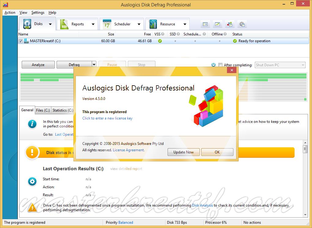 Auslogics Disk Defrag Pro 4.5