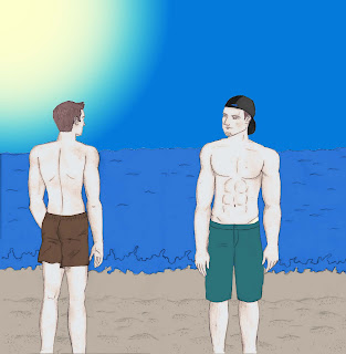 Amigos e praia (desenho)