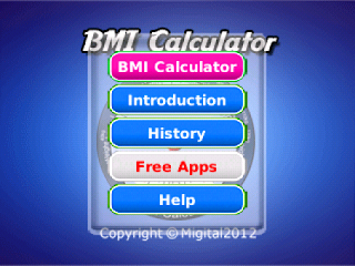 BMI Calculator v4.5 for BlackBerry