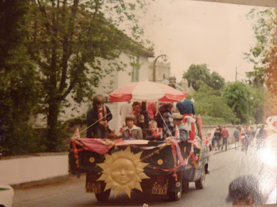 A parade down Church Street, Little Shelford